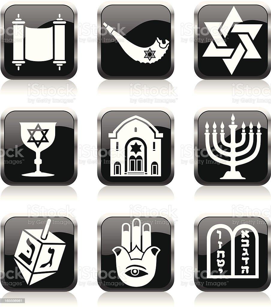 Jewish symbols royalty-free stock vector art