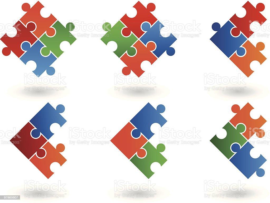 Icônes de puzzle stock vecteur libres de droits libre de droits
