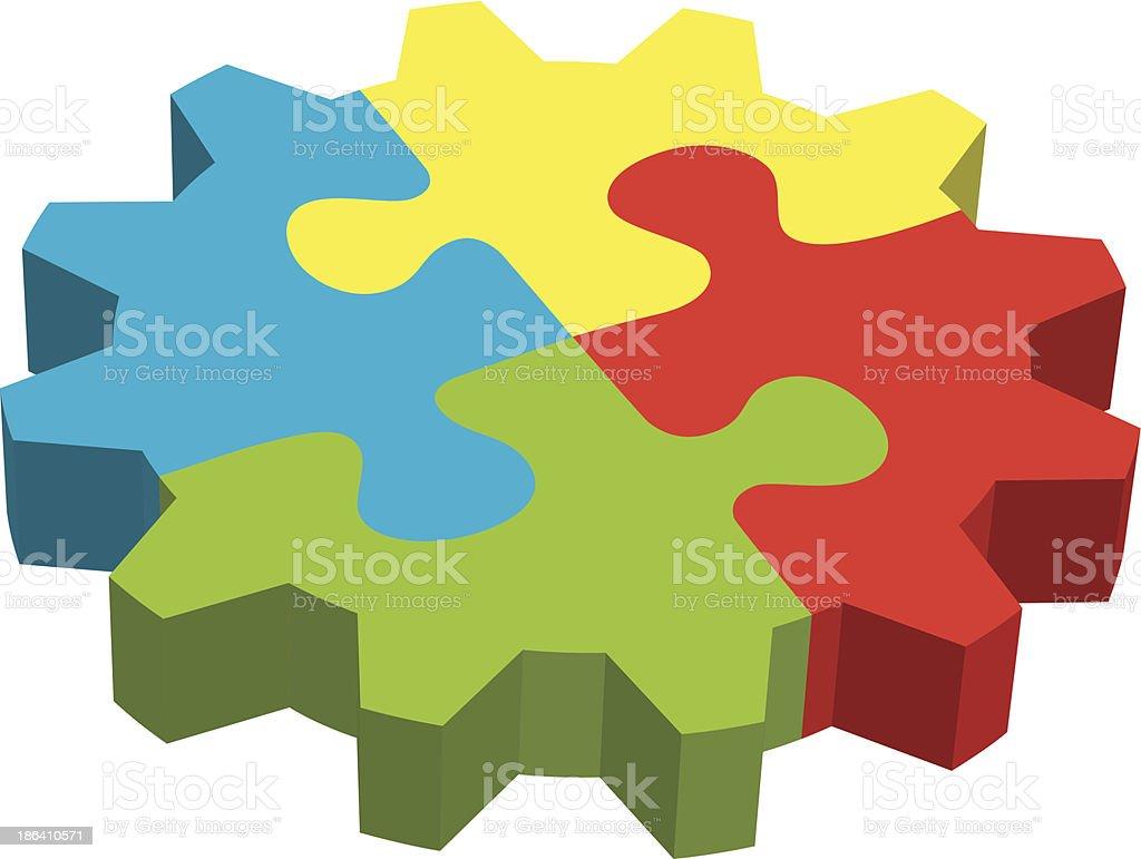 Jigsaw Puzzle - Illustration royalty-free stock vector art