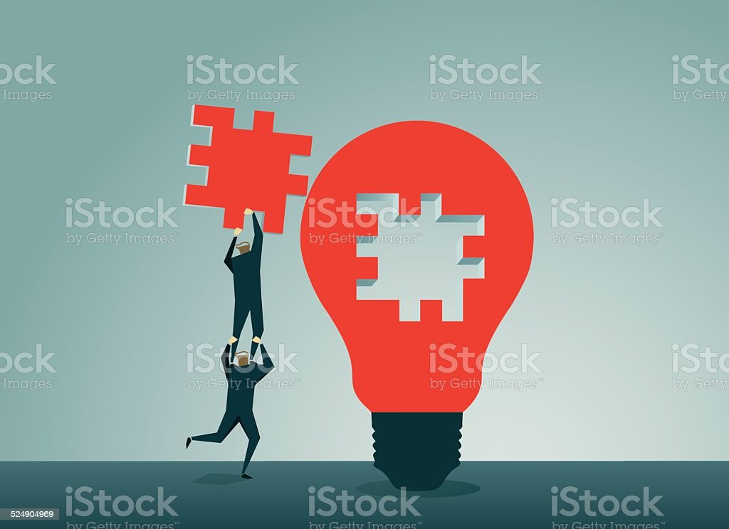 Jigsaw Puzzle, Installing, Assistance, Symbolize,Strategy,Jigsaw Piece,Solution vector art illustration