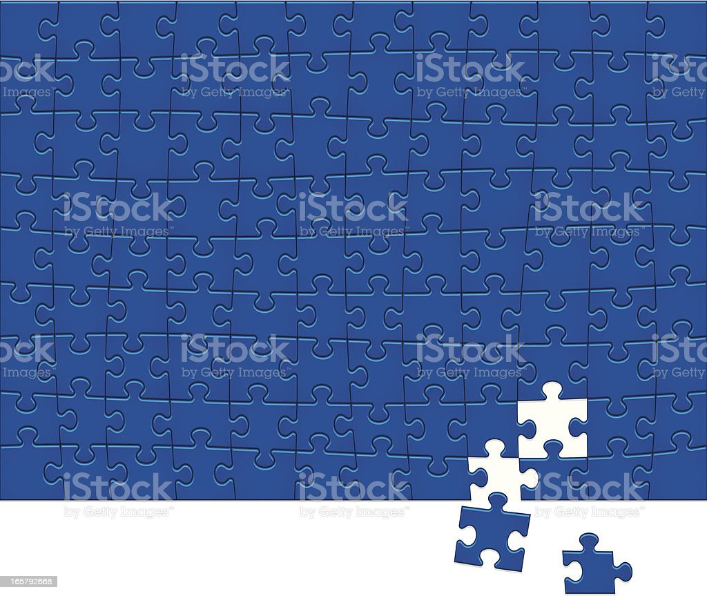 Jigsaw Puzzle Pattern 108 vector art illustration