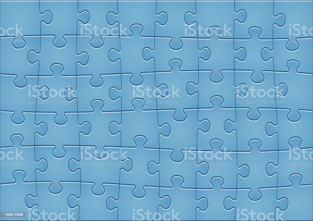 Jigsaw Puzzle Pattern vector art illustration