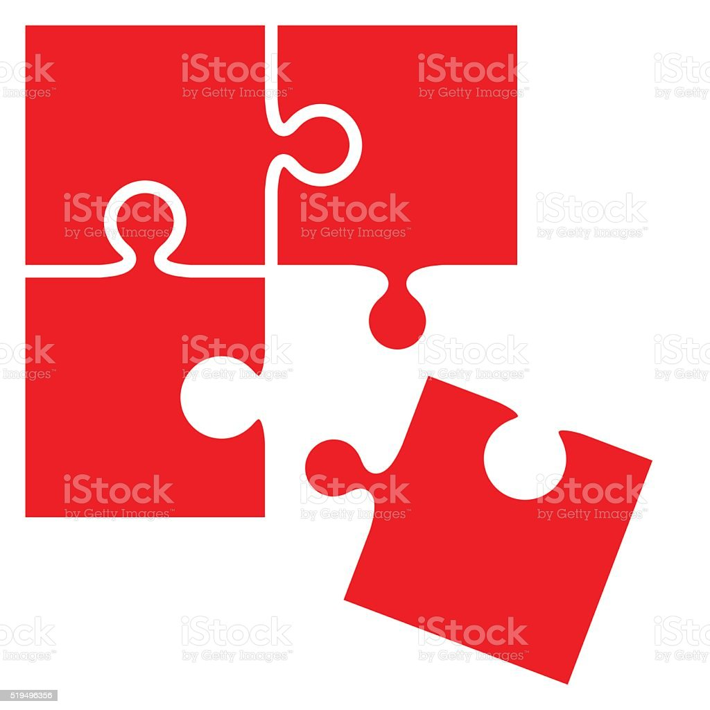 Jigsaw puzzle pieces - VECTOR vector art illustration