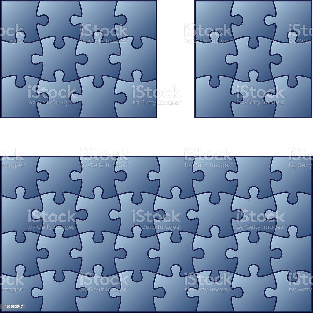 Jigsaw puzzles. royalty-free stock vector art