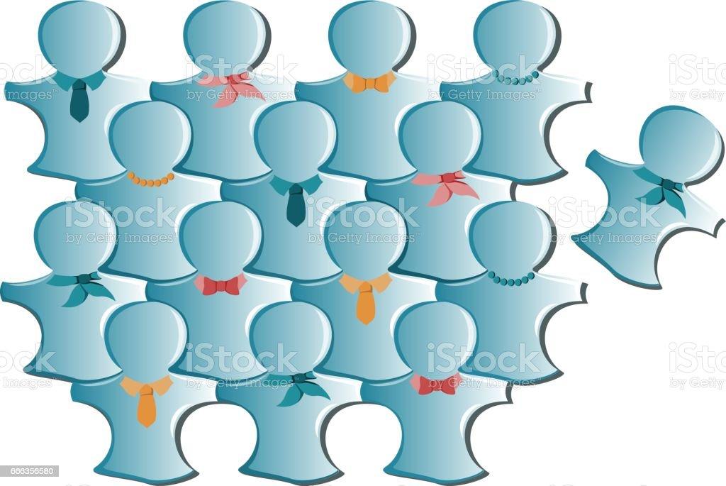 JigsawPeople vector art illustration