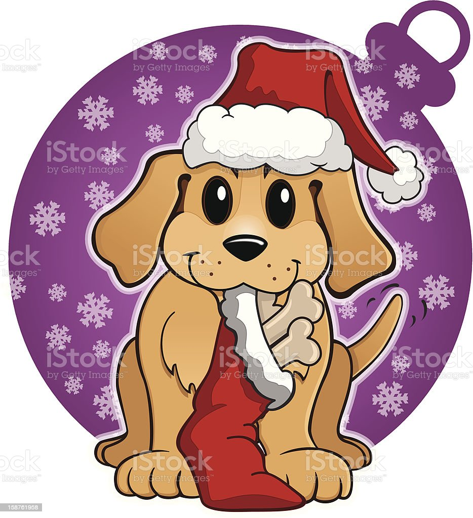 Jingle Bell Pup royalty-free stock vector art