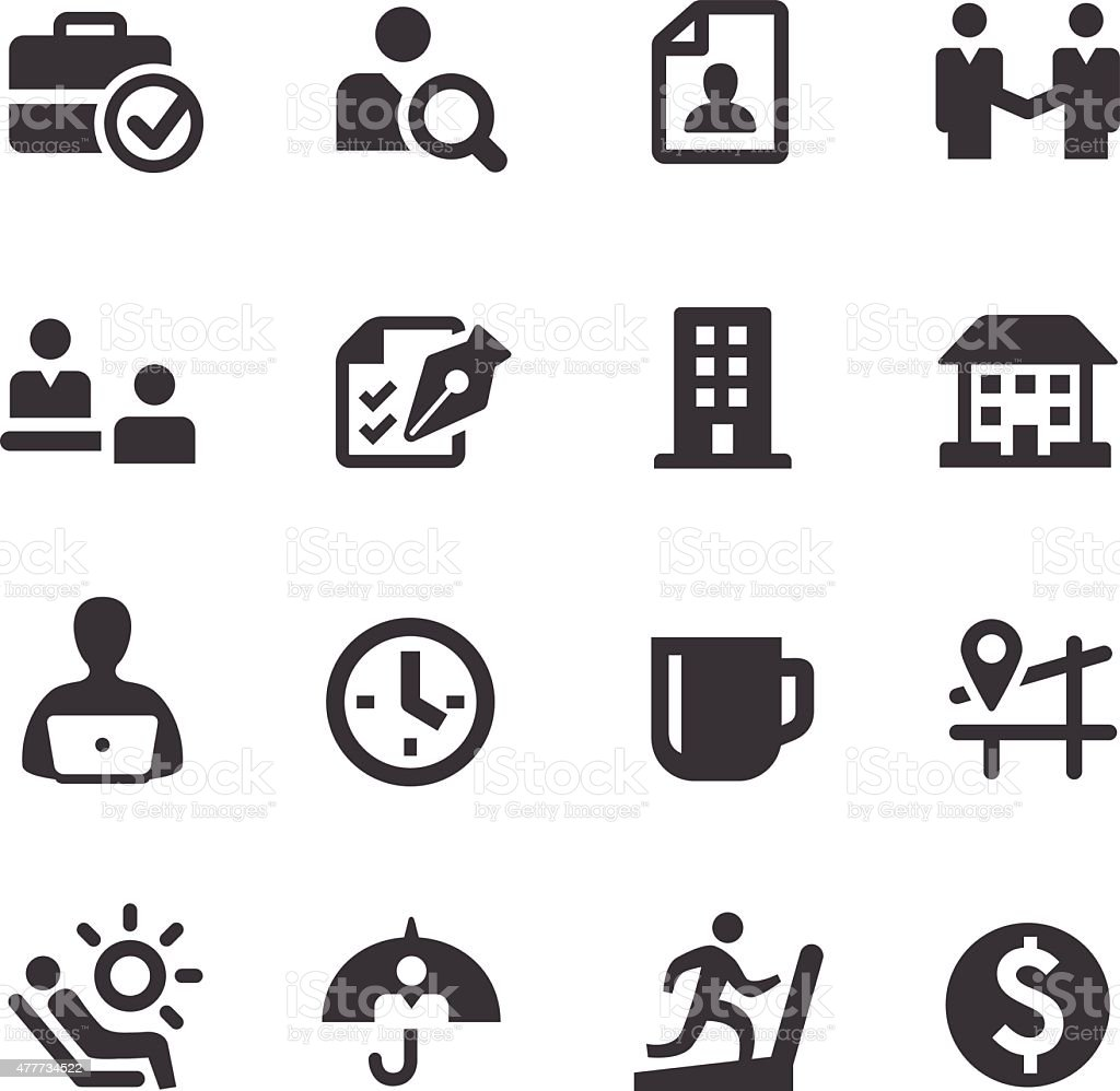 Job and Benefits Icons - Acme Series vector art illustration