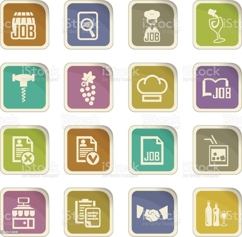 Job icons set vector art illustration
