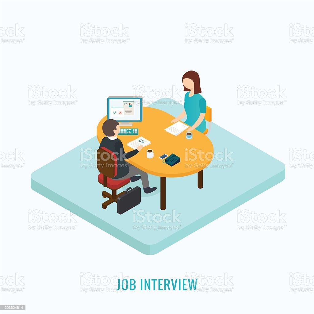Job interview concept. vector art illustration