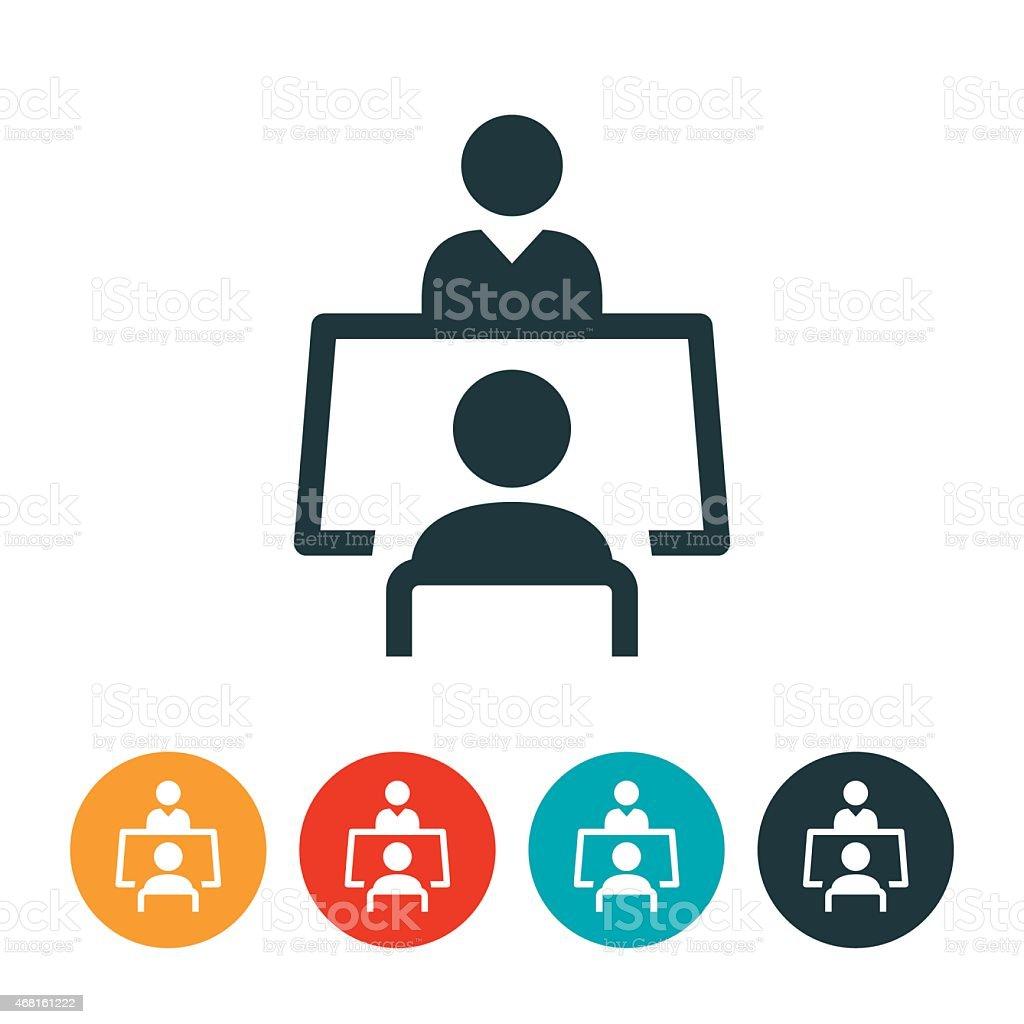 Job Interview Icon vector art illustration