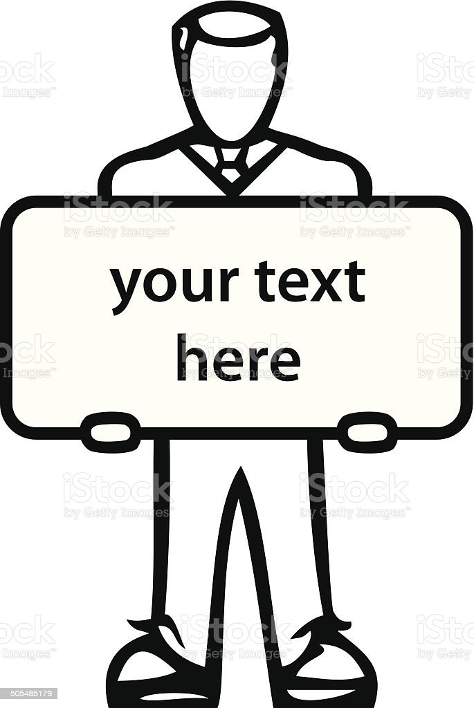 job message vector art illustration