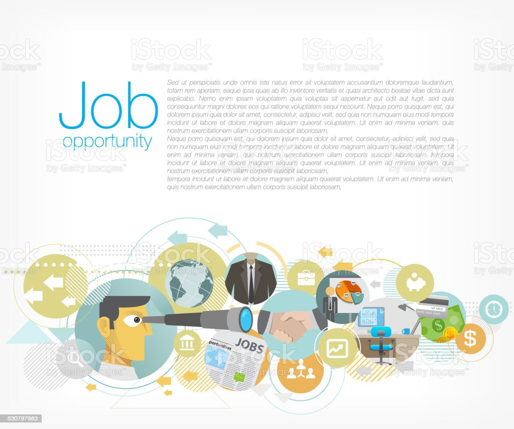Job opportunity vector art illustration