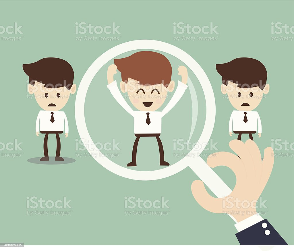 Job search and Human resource concept vector art illustration