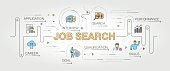 Job Search banner and icons