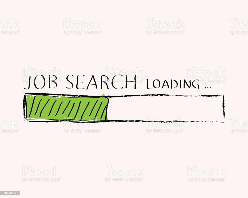 Job search doodle vector art illustration