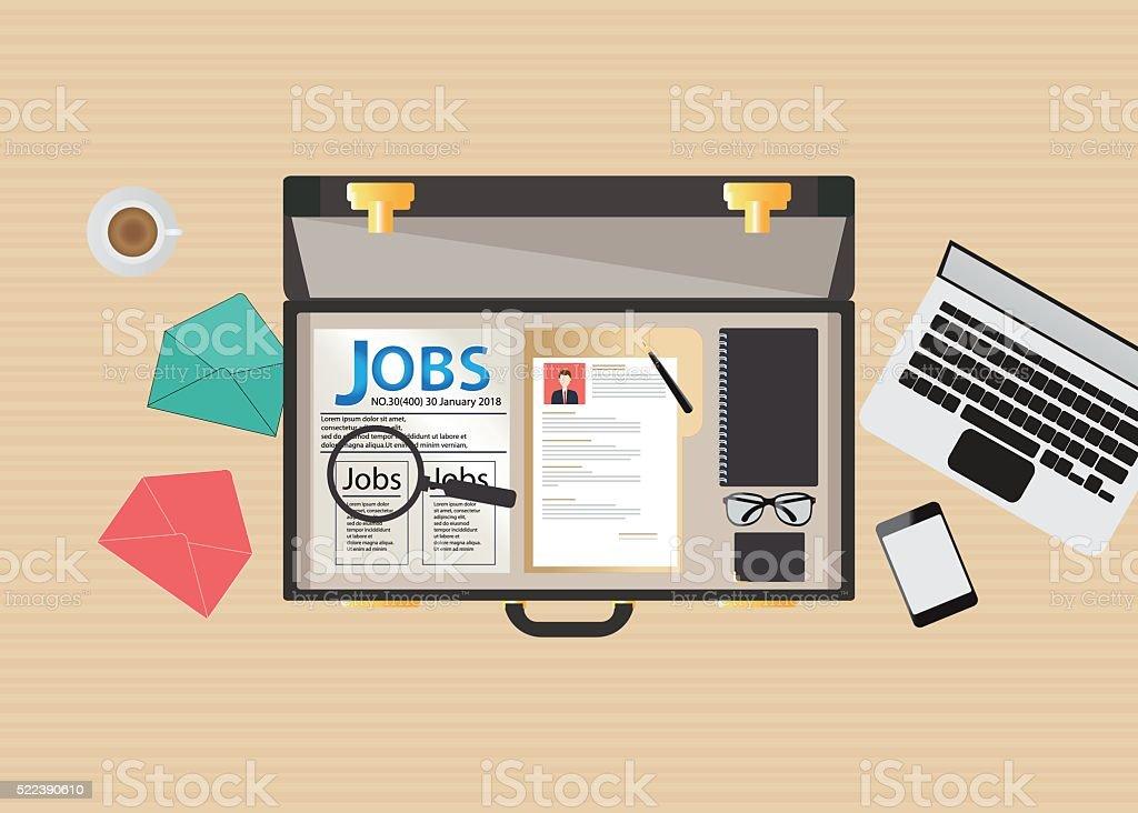 Job search icon design. vector art illustration