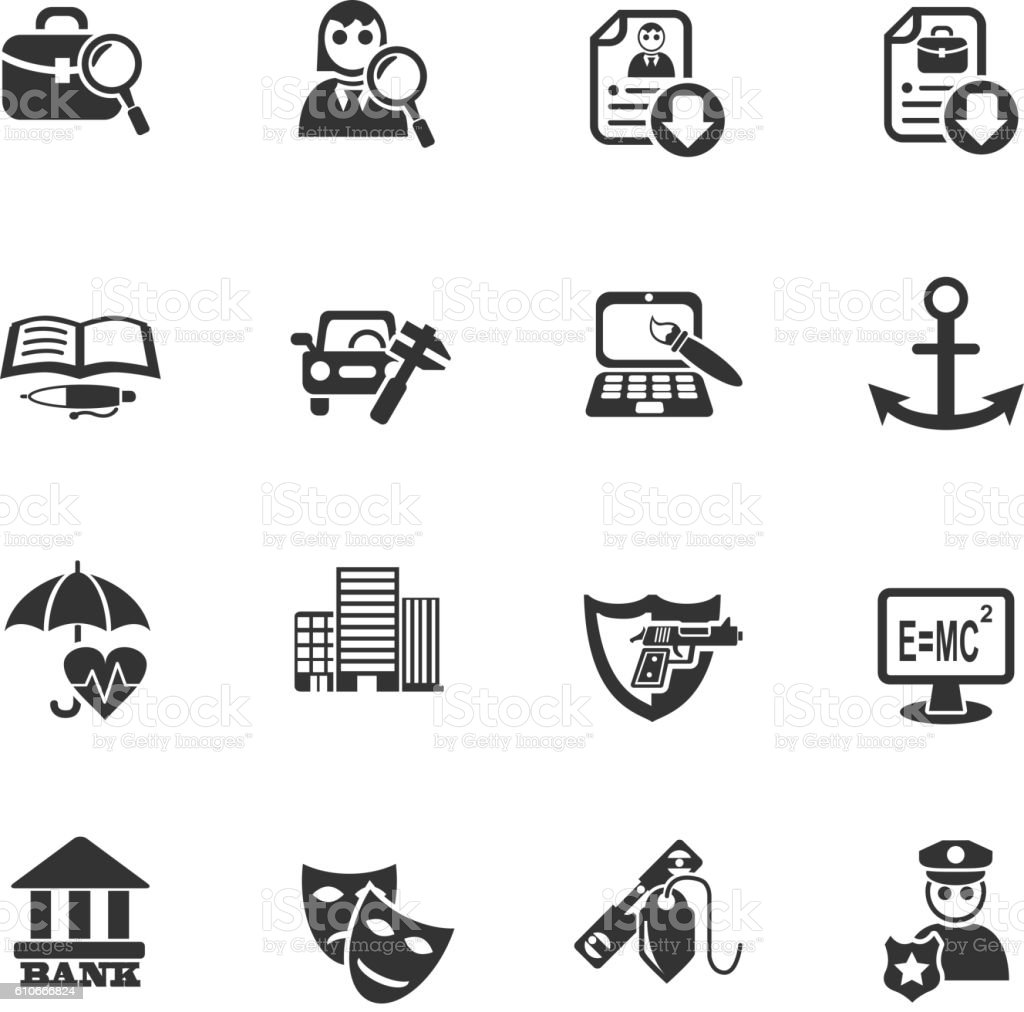 job search icon set stock vector art istock 1 credit