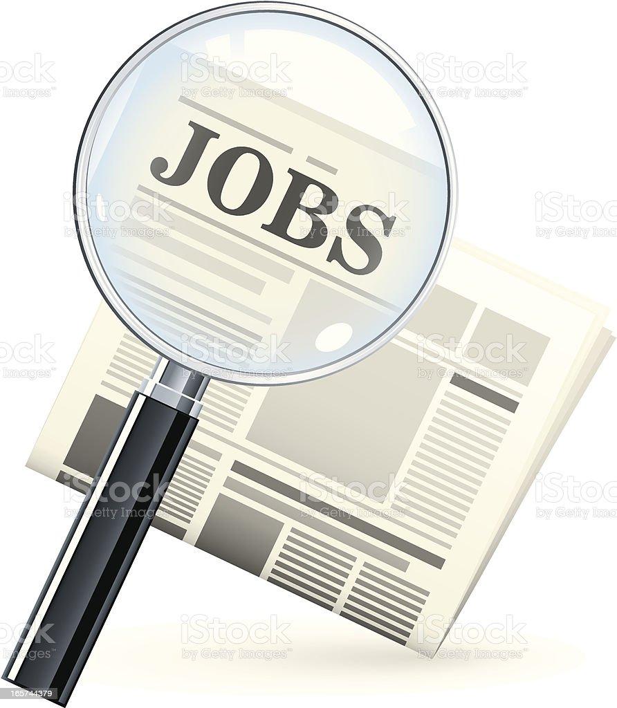 Job search royalty-free stock vector art