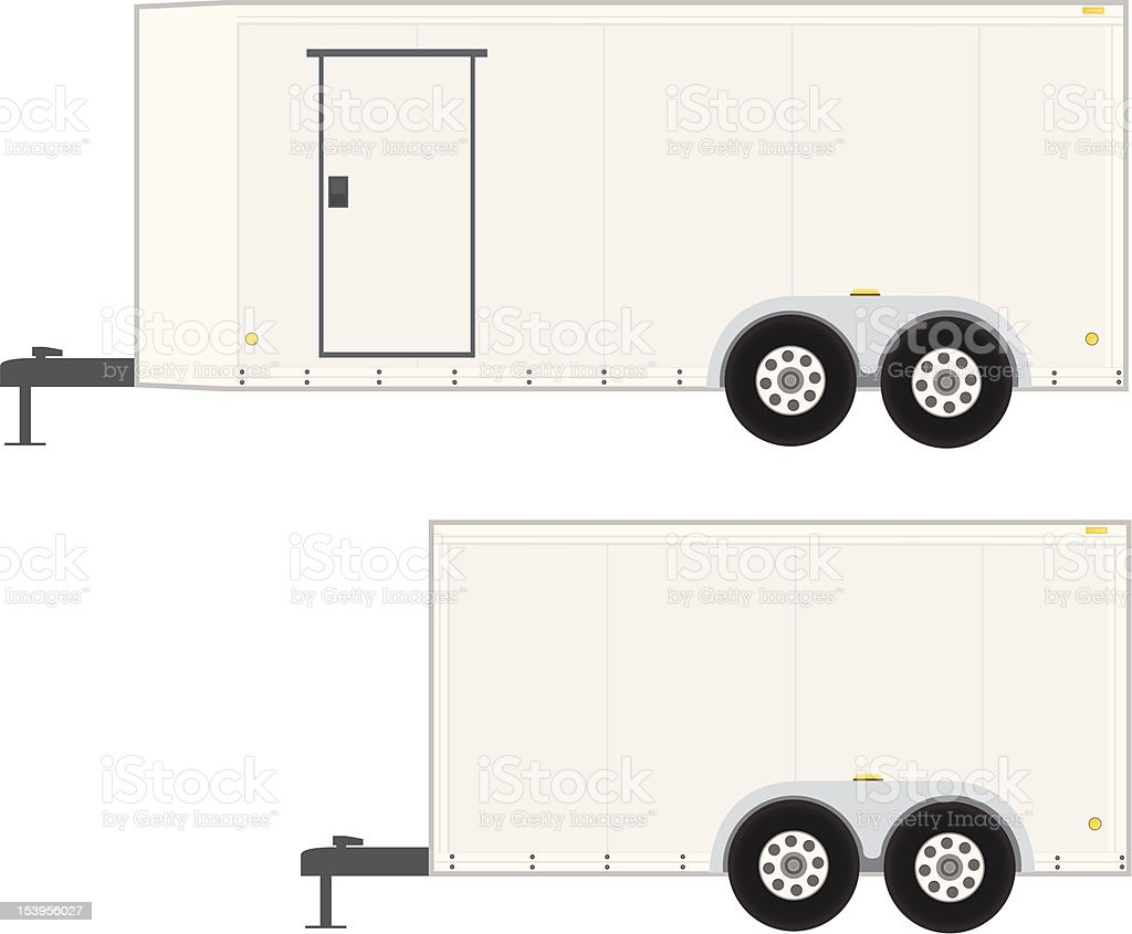 Job Trailer vector art illustration