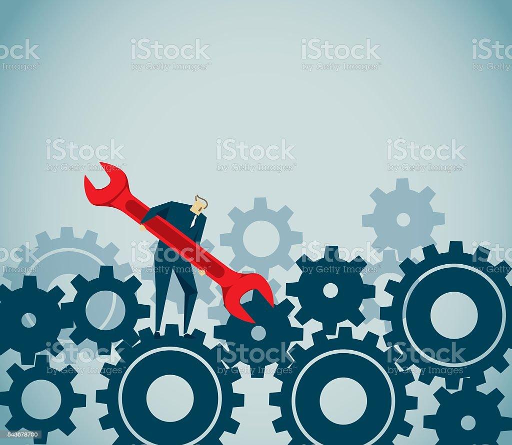 Job vector art illustration