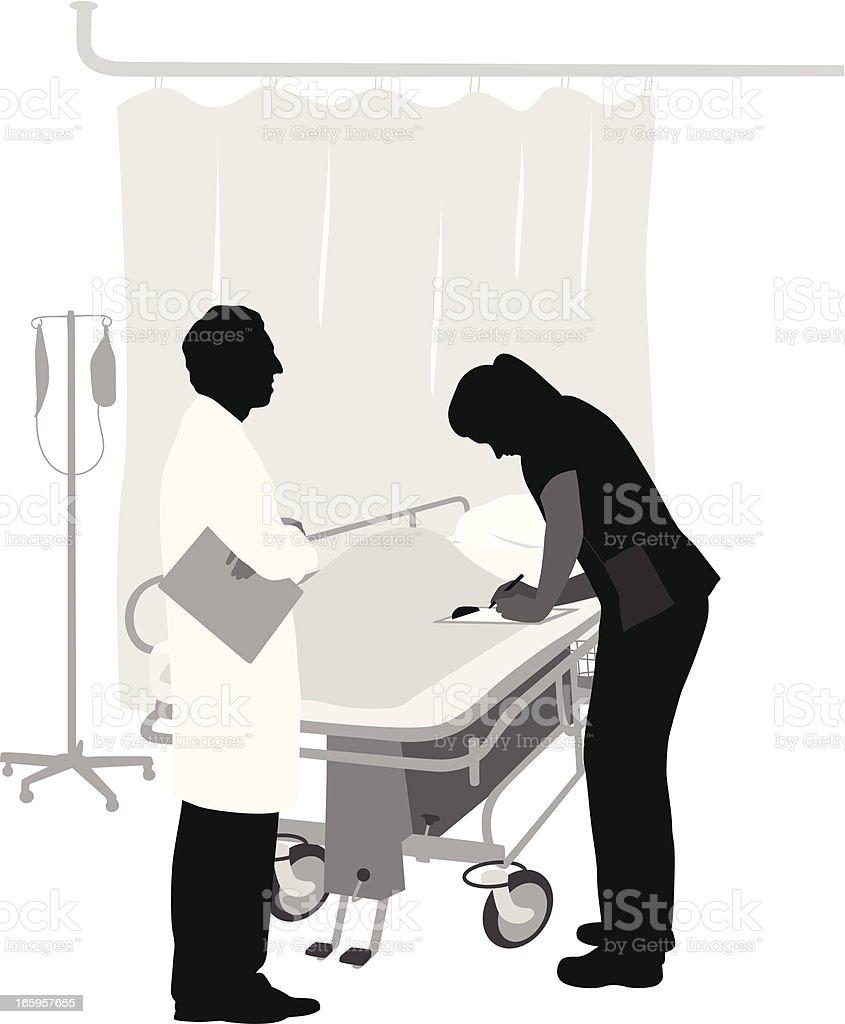 Job'n Hospital Vector Silhouette royalty-free stock vector art