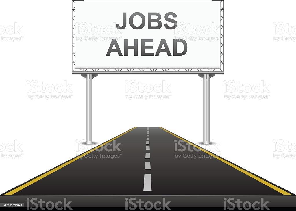 Jobs ahead vector art illustration
