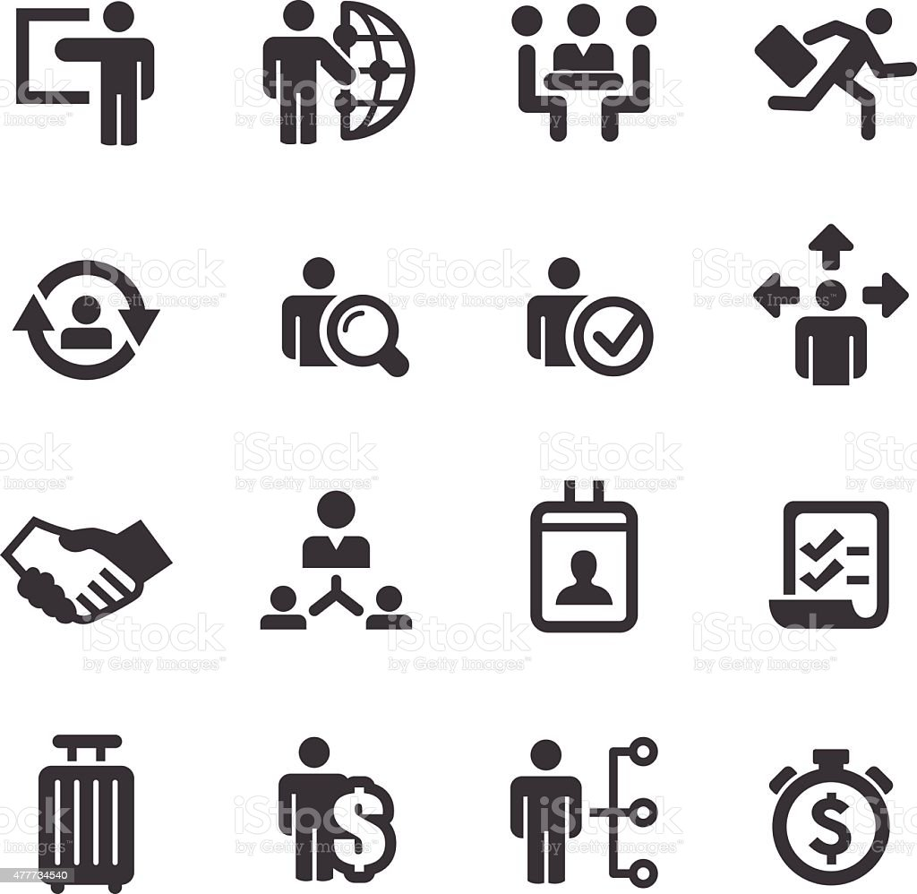 Jobs and Human Resources Icons - Acme Series vector art illustration