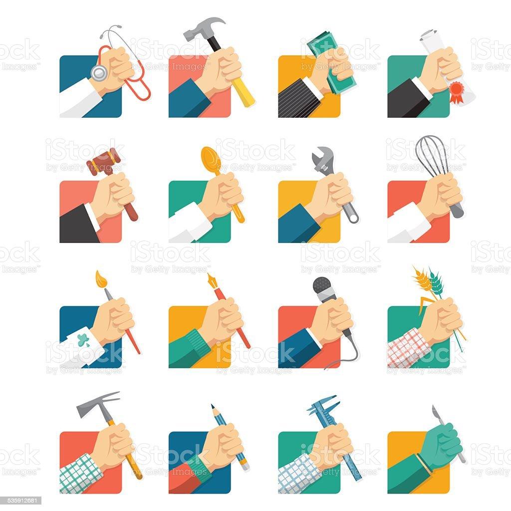 Jobs avatars vector art illustration