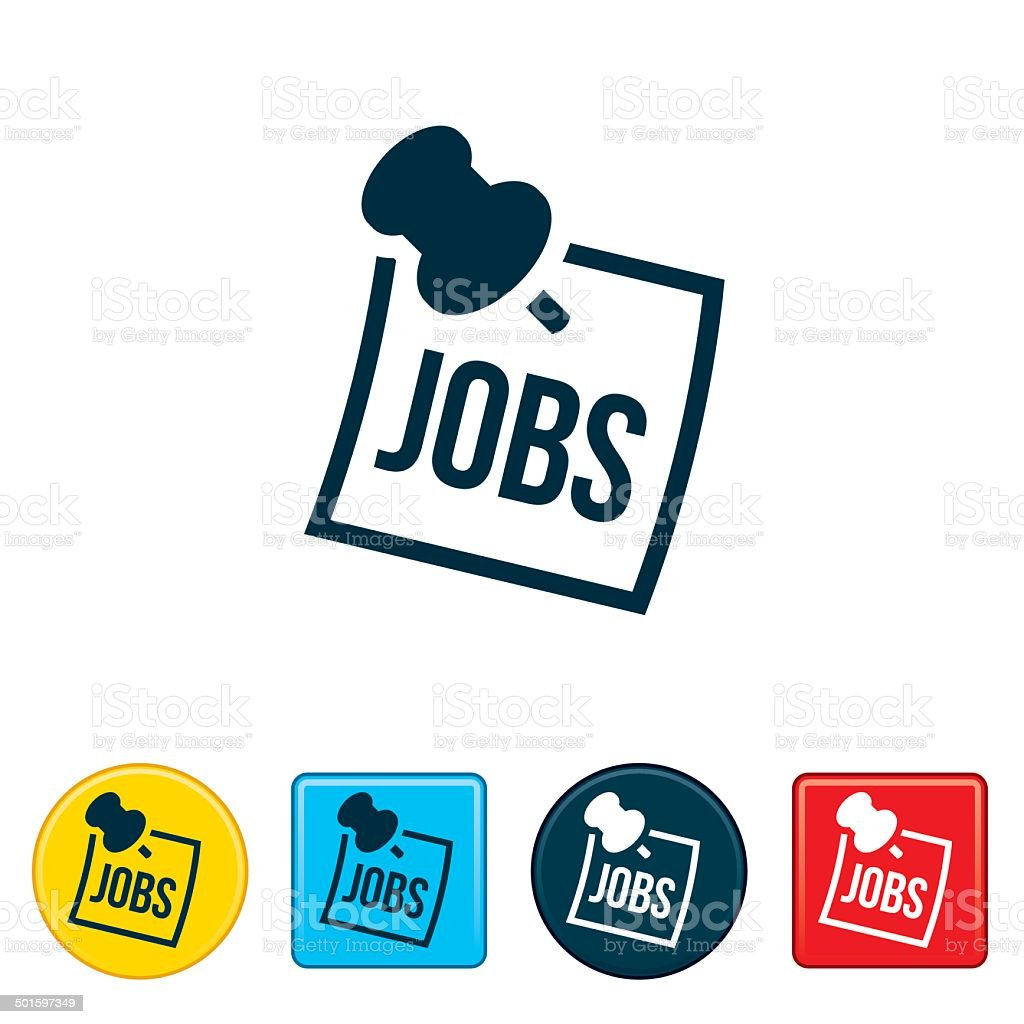 Jobs Post Icon vector art illustration