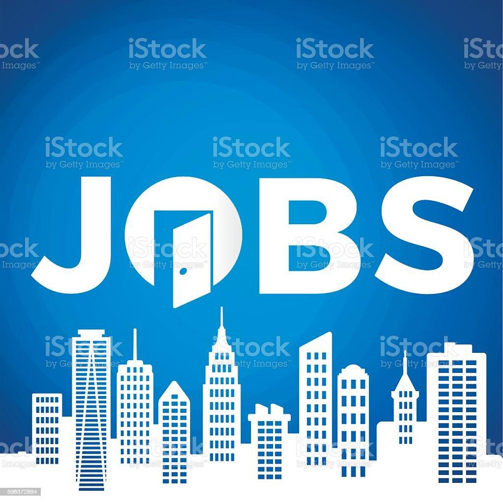 Jobs vector art illustration