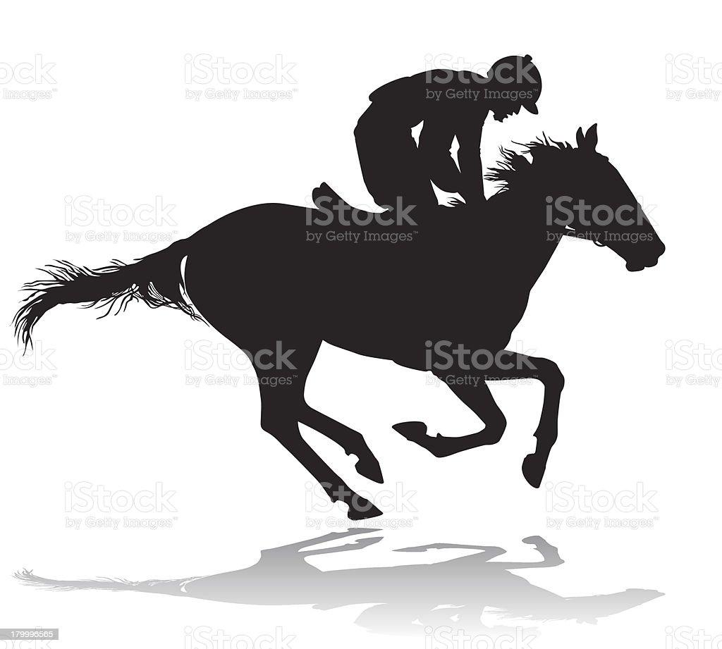 Jockey on a horse 4 royalty-free stock vector art
