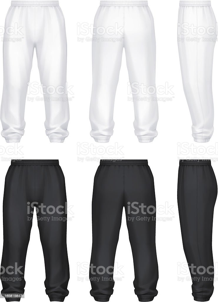 Jog pants royalty-free stock vector art