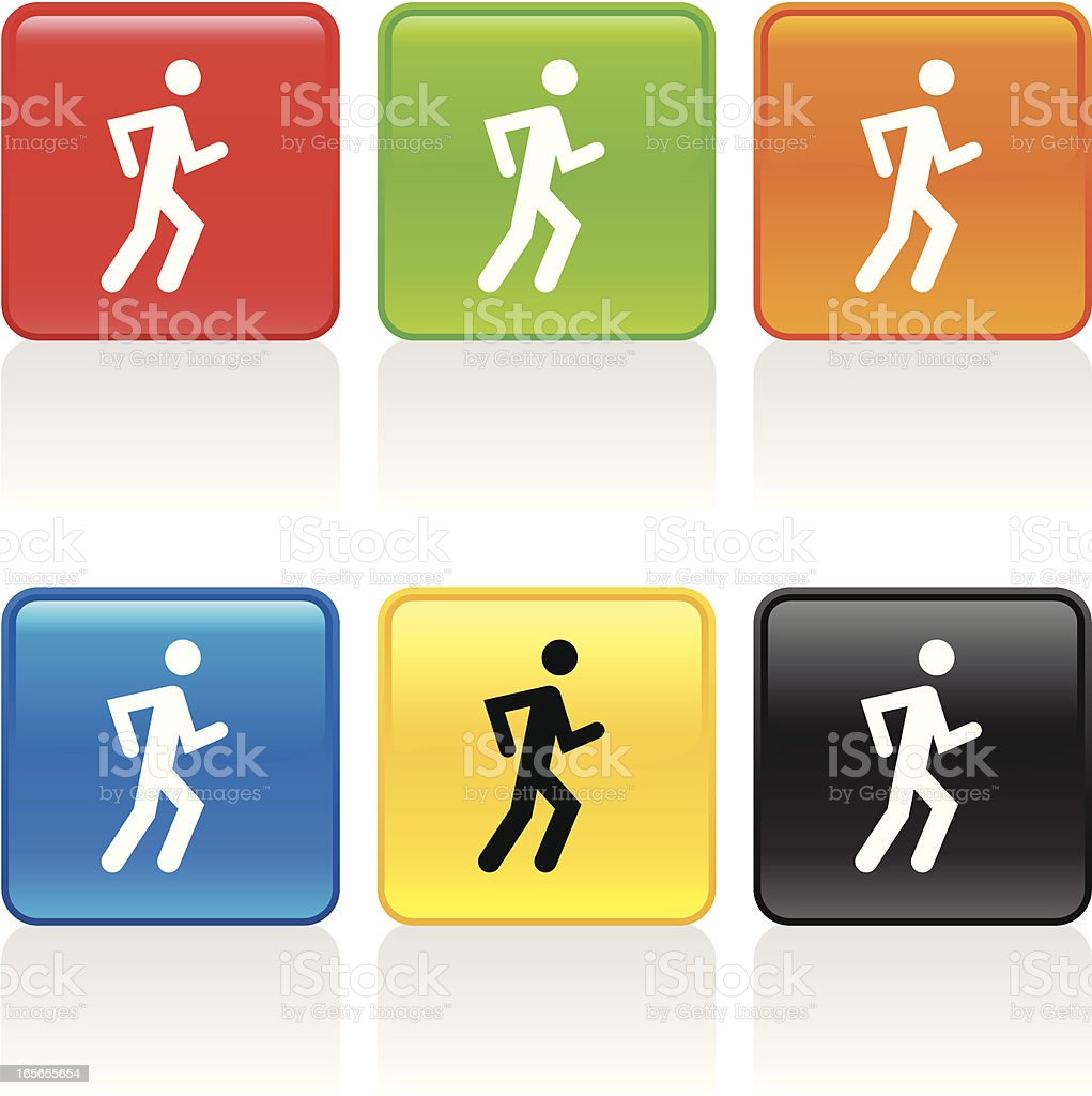 Jogger Icon vector art illustration