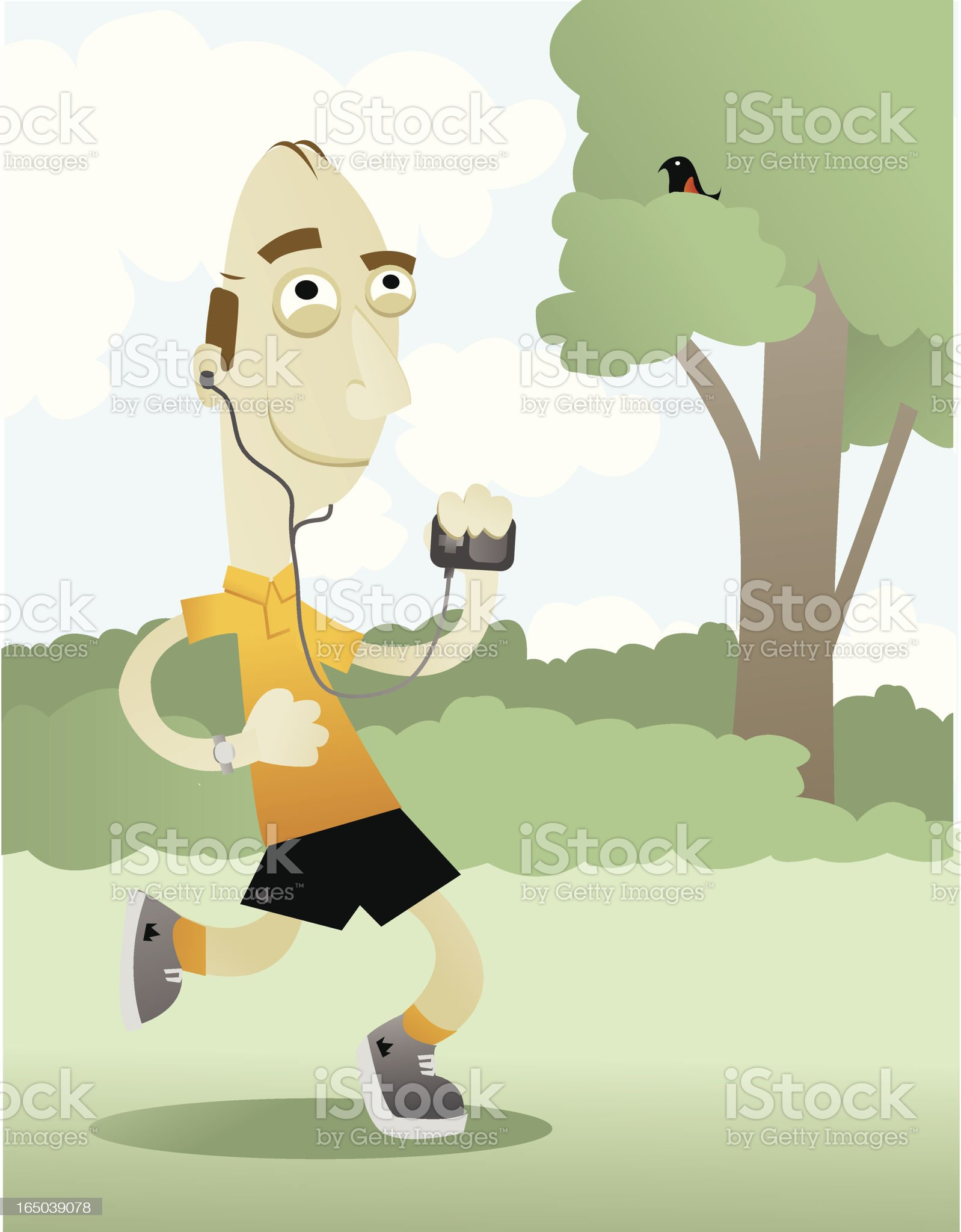 Jogger royalty-free stock vector art
