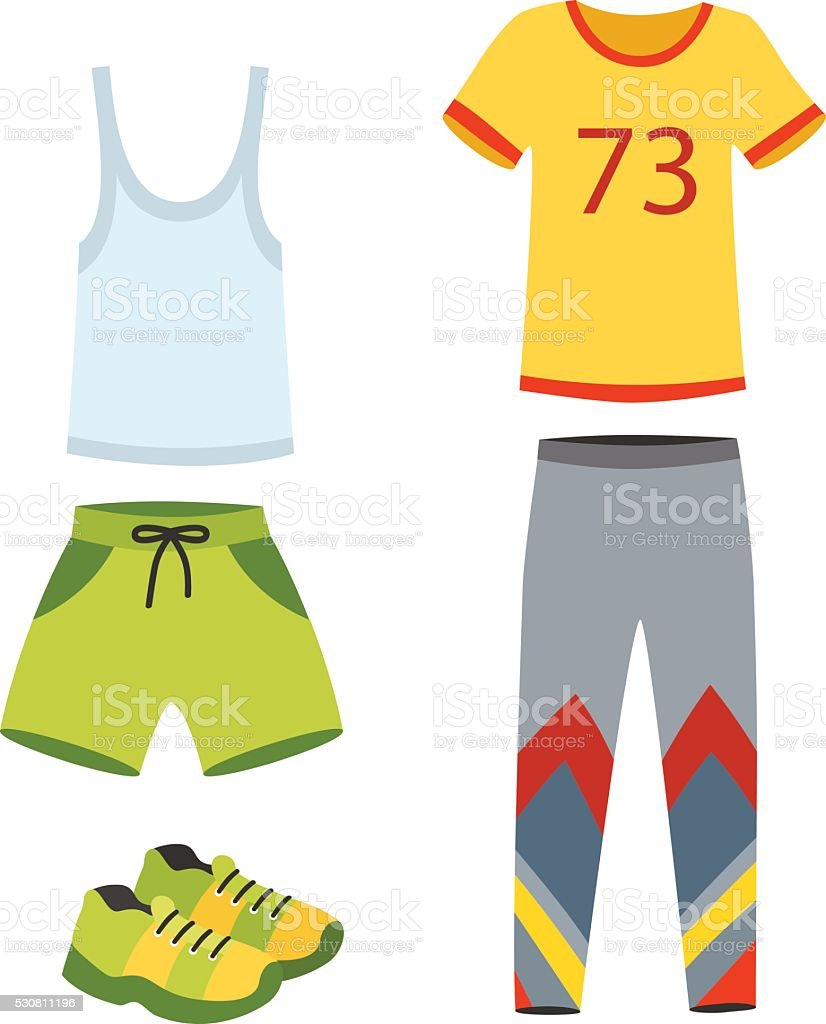 Jogging clothes vector illustration vector art illustration