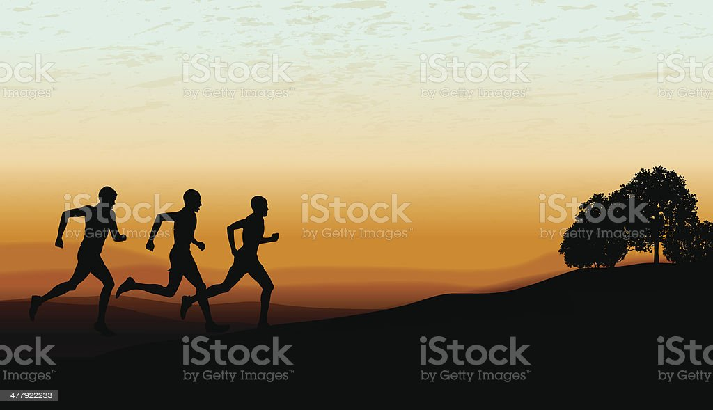Jogging Club or Track & Field Cross Country Background royalty-free stock vector art