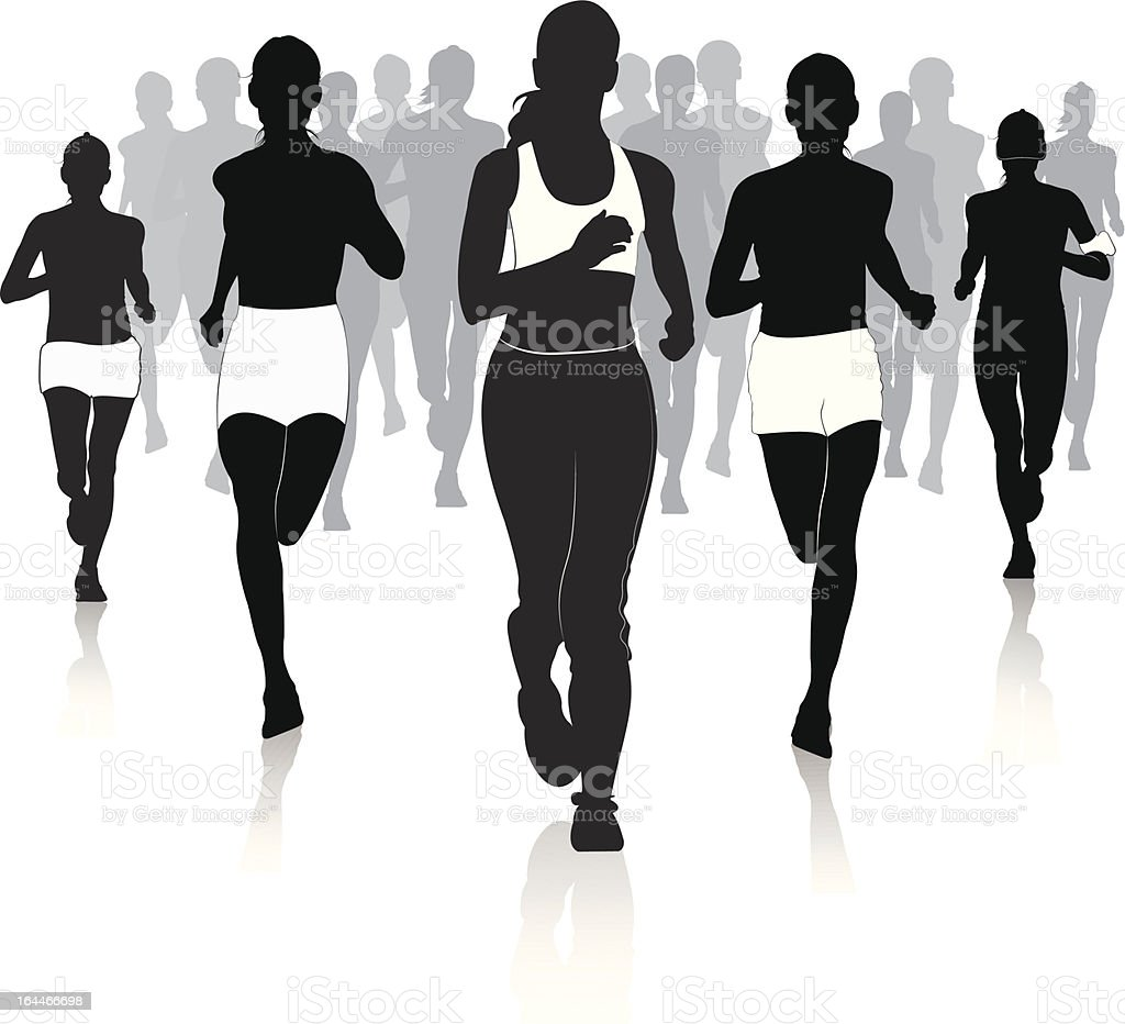 Jogging in the city royalty-free stock vector art