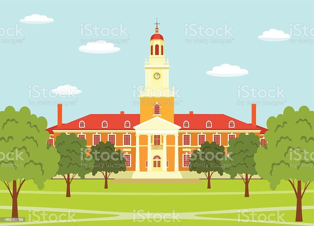 Johns Hopkins University vector art illustration