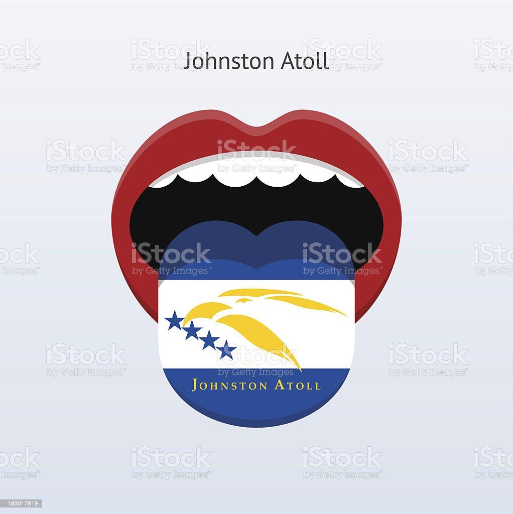 Johnston Atoll language. Abstract human tongue. royalty-free stock vector art