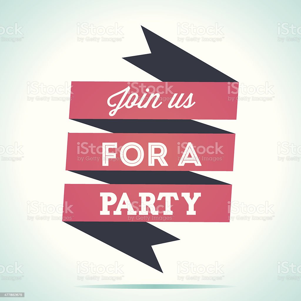 Join us for a party royalty-free stock vector art