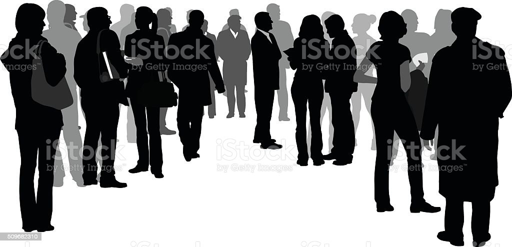 Joining the Crowd vector art illustration
