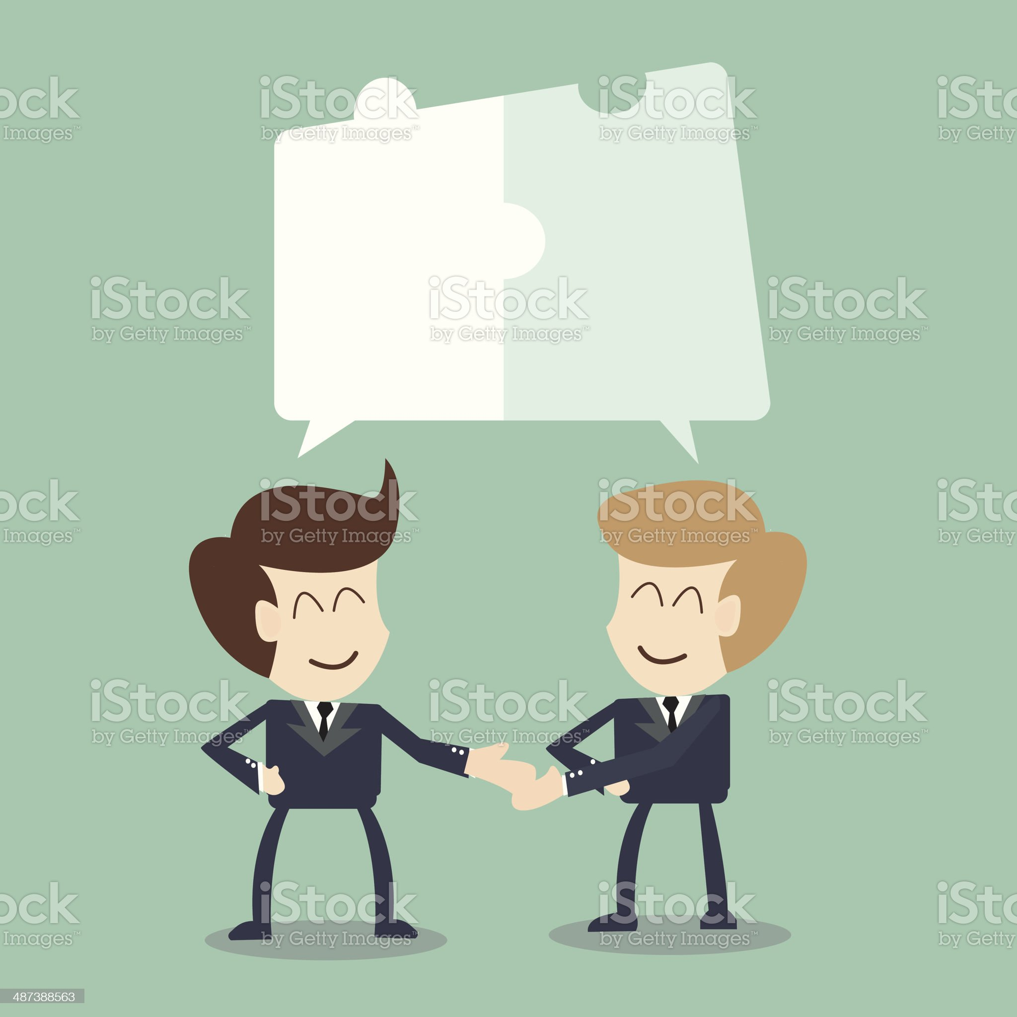 Joint Effort - collaboration concep royalty-free stock vector art