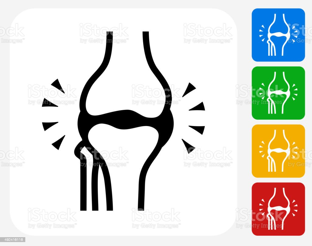 Joint Icon Flat Graphic Design vector art illustration