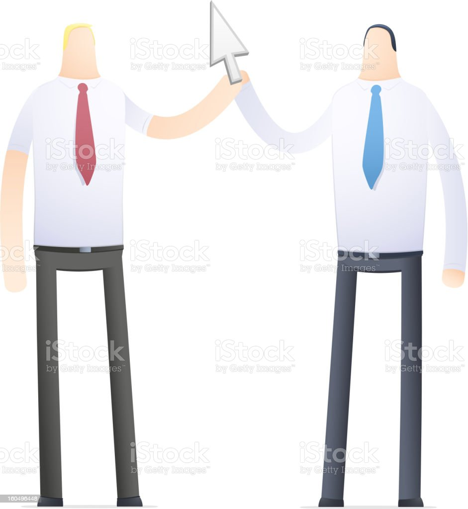 joint management of the Internet project vector art illustration