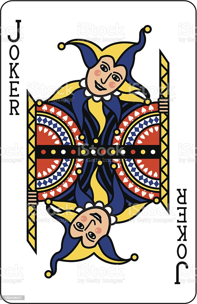 Joker Blue Playing Card royalty-free stock vector art