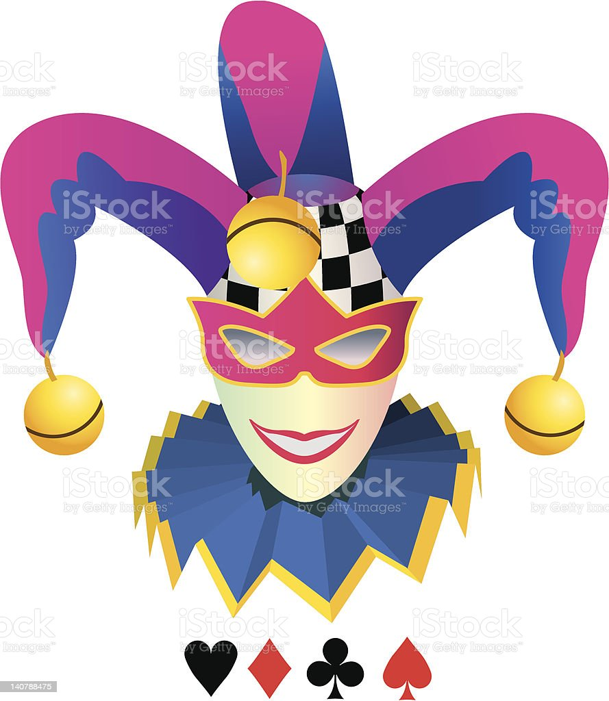 Joker of Elegant smile. vector art illustration