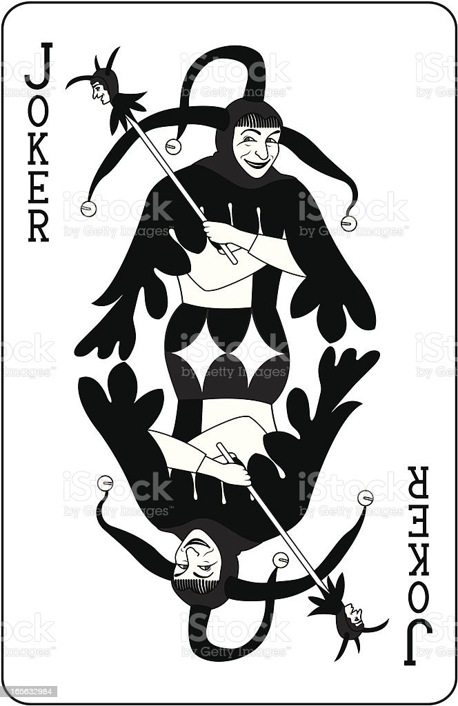 Joker Playing Card Black royalty-free stock vector art