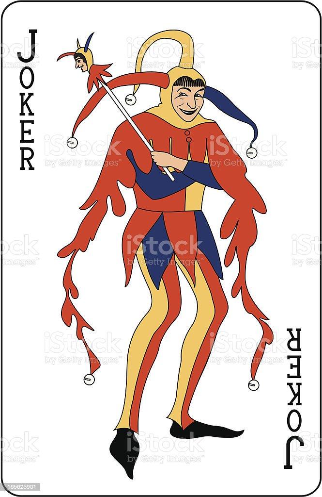 Joker playing card royalty-free stock vector art