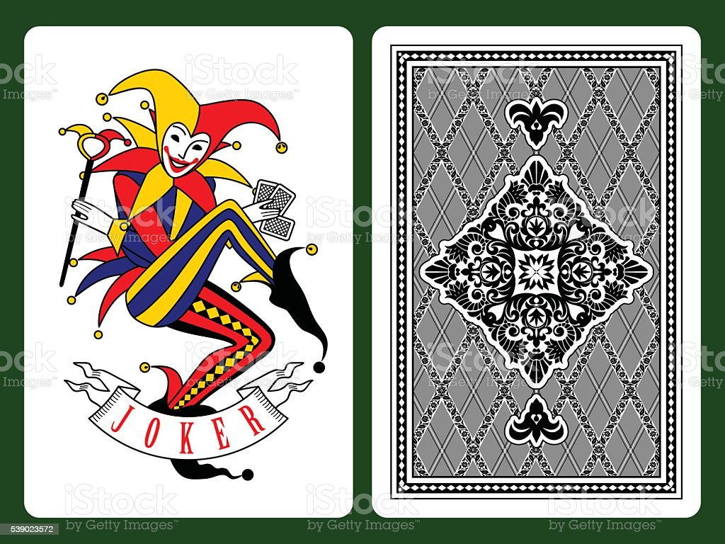 Joker playing card vector art illustration