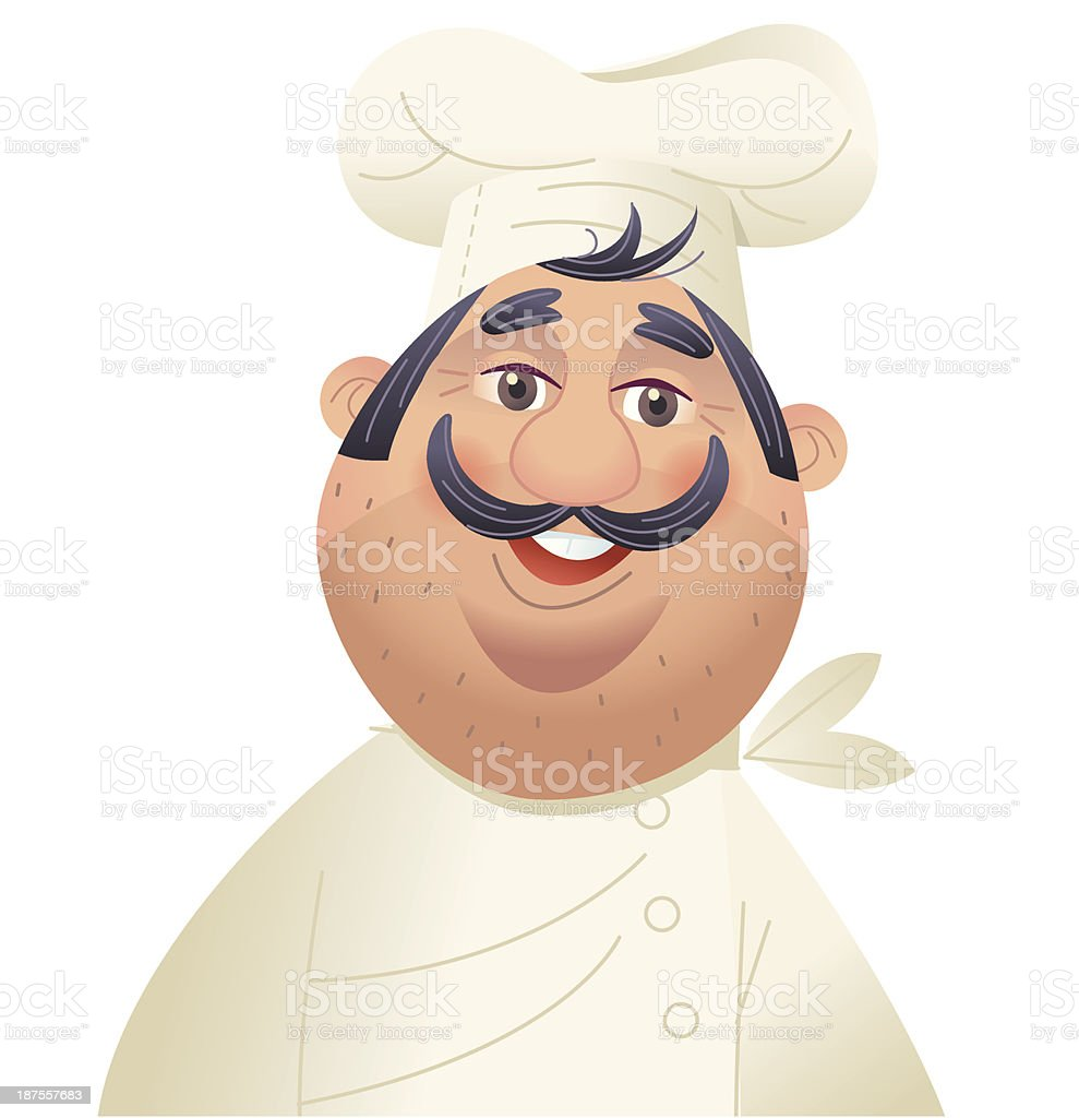 Jolly Chef royalty-free stock vector art
